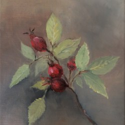 'Nyper'  24 x 18 cm, olje på lerret, 2014, Kr 1500,-
