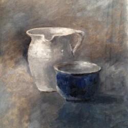 'Stilleben'  olje på lerret, 32 x 22 cm, 2014