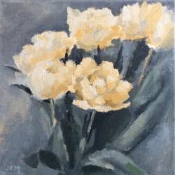 'Tulipaner'  20 x 20 cm, akryl på lerret, 2015