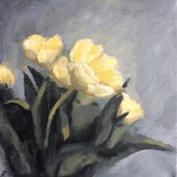 'Tulipaner II', 20 x 20 cm, akryl på lerret, 2015.
