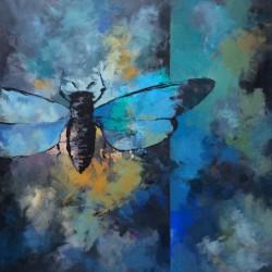 'Pollensøk'  80 x 80 cm, akryl på lerret, 2015, solgt