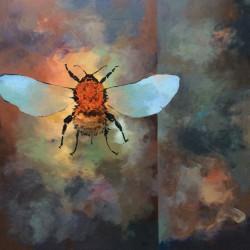 'Humleferd'  60 x 60 cm, akryl på lerret, 2015, solgt
