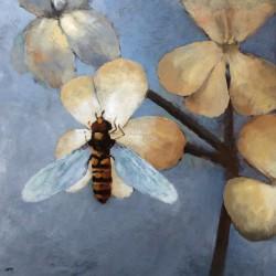 'Blomsterflue'  50 x 50 cm, akryl på lerret, 2015, Kr 4000,-