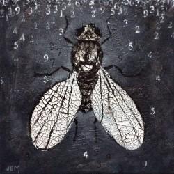 'Fly buzz' / 'Fluesurr', 20 x 20 cm, akryl på lerret, 2015, Kr 1000,- tilgjengelig Totenvika galleri og kulturkafe