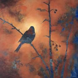 'Autumn Scene' / 'Høstscene', 40 x 40 cm, akryl på lerret, 2016, Kr 2800,- tilgjengelig Totenvika galleri og kulturkafe