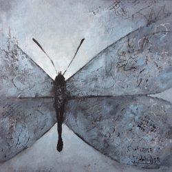 'Butterfly' / 'Sommerfugl', 30 x 30 cm, akryl på lerret, 2016