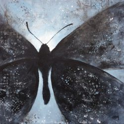 'Moth' / 'Nattsvermer', 30 x 30 cm, akryl på lerret, 2016, Kr 2500,-