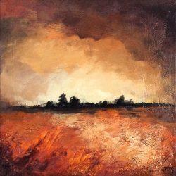 'Autumn scene II' / 'Høst scene II', 20 x 20 cm, akryl på lerret, 2015, solgt.