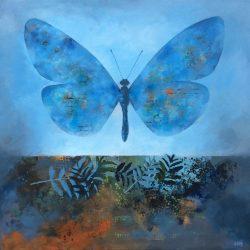 'Memories from the Summer' / 'Minner fra sommeren', 50 x 50 cm, akryl på lerret, 2017, solgt.