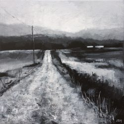'The Old Road' / 'Gamlevegen', 30 x 30 cm, akryl på lerret, 2017, Kr 3000,-
