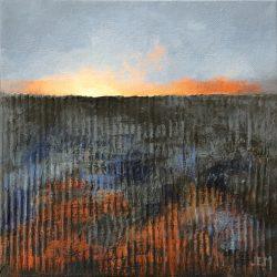 'Winter Field II' / 'Vinteråker II', 20 x 20 cm, akryl på lerret, 2017, Kr 1000,-