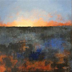 'Winter Field I' / 'Vinteråker I', 20 x 20 cm, akryl på lerret, 2017, solgt.