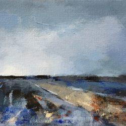 'Field Scene' / 'Åkerscene', 15 x 30 cm, akryl på lerret, 2017, Kr 1000,-