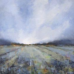 'Blue Field' / 'Blå åker', 40 x 40 cm, akryl på lerret, 2017, Kr 3500,-