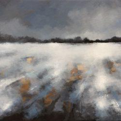 'Winter Scene' / 'Vinterscene', 60 x 90 cm, akryl på lerret, 2017, Kr 6000,-
