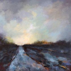 'In Late Autumn' / 'Senhøstes', 40 x 40 cm, akryl på lerret, 2016, solgt.