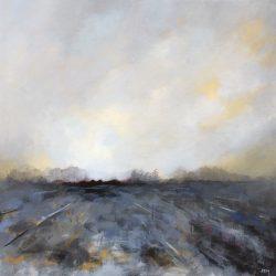 'Winter Silence' / 'Vinterstillhet', 40 x 40 cm, akryl på lerret, 2016, Kr 3500,-