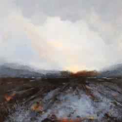 'Black frost' / 'Barfrost', 50 x 50 cm, akryl på lerret, 2016, Kr 4000,-