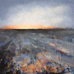 'Winter Evening' / 'Vinterkveld', 20 x 20 cm, akryl på lerret, 2017, Kr 1000,-